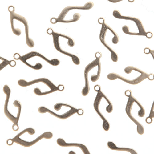 Note Symbol Metal Beads Pendants for Necklace Earrings Bracelet etc Charms #146