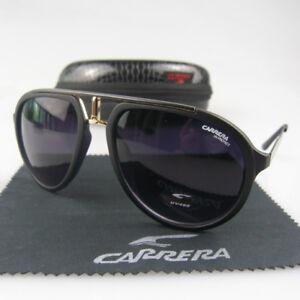 New Men Women Retro Sunglasses Sport Aviator Matte Frame Eyewear Carrera Glasses