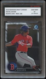 RAFAEL DEVERS 2016 BOWMAN CHROME Topps 1ST GRADED 10 ROOKIE CARD BOSTON RED SOX
