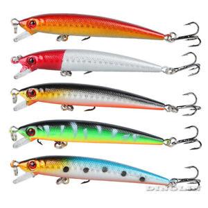5Pcs-Lot-Fishing-Lures-Laser-Minnow-9cm-6-6g-Plastic-Bass-Hard-Baits-Fish-Tackle