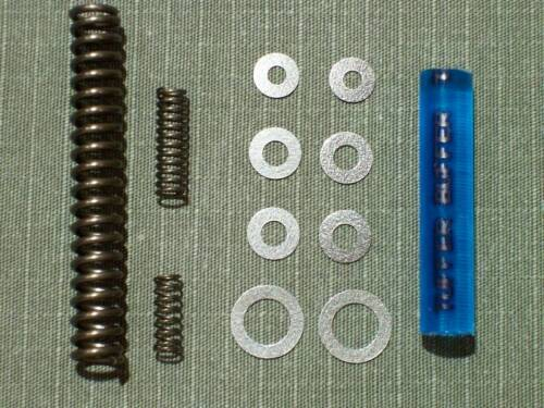 TriggerShims Brand SHIM KIT with Poly Bolt Stop /& SPRINGS 4 Ruger 10//22 8-W//Poly