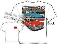 Chevy Shirt Nomad Chevrolet Clothing Classic Car Shirt 1956 56 Belair Blue Suede