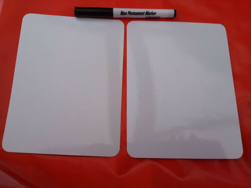 VARIOUS SIZES WHITEBOARDS BLANK FLASH CARDS QUANTITIES WITH DRY WIPE PEN