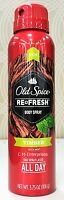 Old Spice Timber With Mint Refresh Body Spray 3.75 Oz