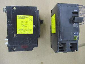 Square D QO2100, 100 Amp 2 Pole 240 Volt Circuit Breaker- WARRANTY