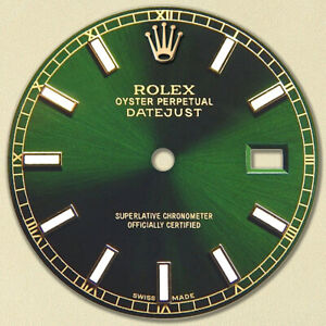 REFINED-MENS-2-TONE-DATEJUST-GREEN-DIAL-WITH-LUMINOUS-MARKER-RT-FOR-ROLEX-36