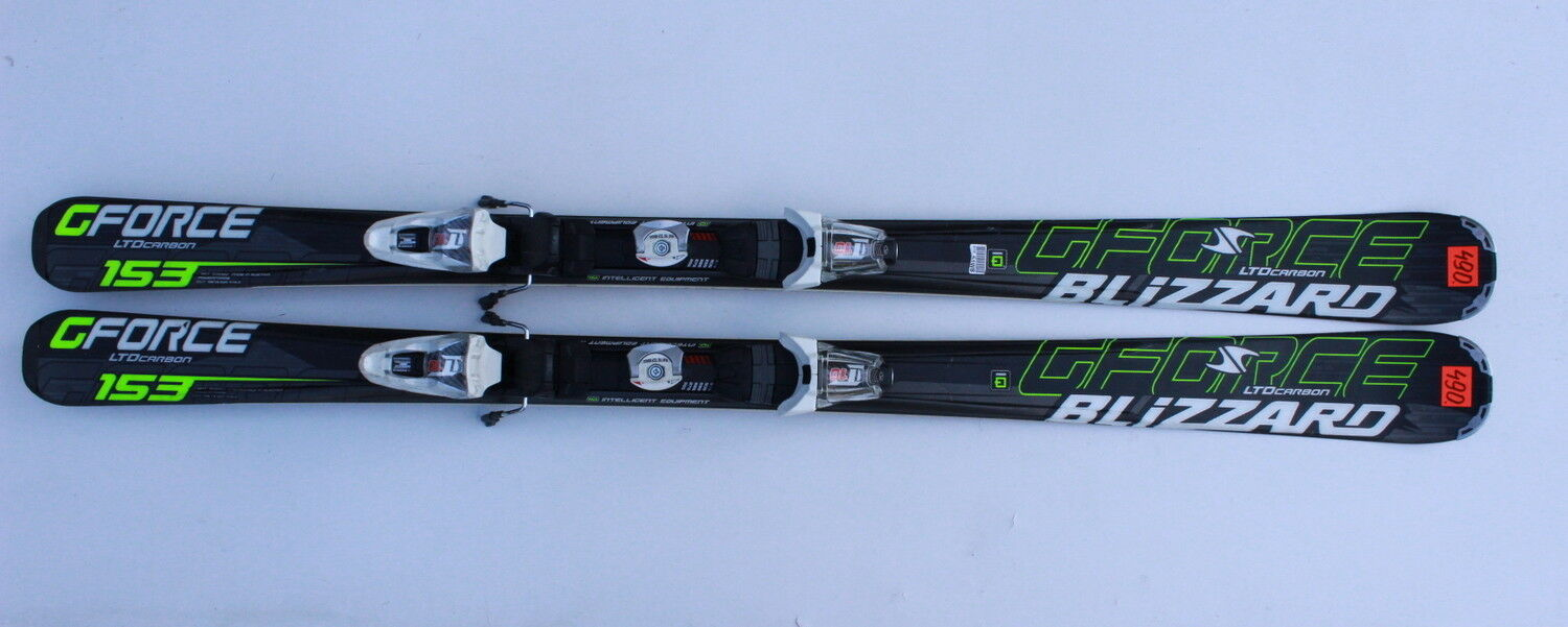 BLIZZARD G FORCE LTD CARBON IQ 153 CM SKIS SKI  + MARKER LT 10  N490  fast shipping and best service