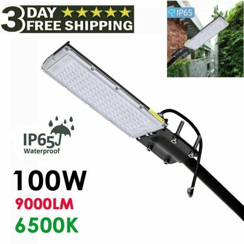 100W LED Road Street Flood Light Garden Spot Lamp Head Outdoor Yard White IP65