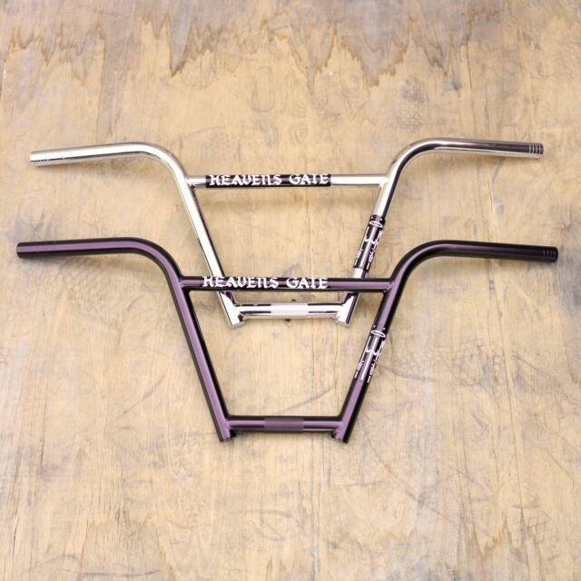 S/&M FU Bars 4 pc Handlebars for BMX Freestyle Bike 10 inch Chrome or Flat Black