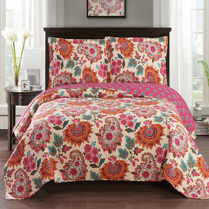 Paisley-Floral-Pattern-Tamiya-Oversized-Coverlet-Luxury-Microfiber-Wrinkle-Free
