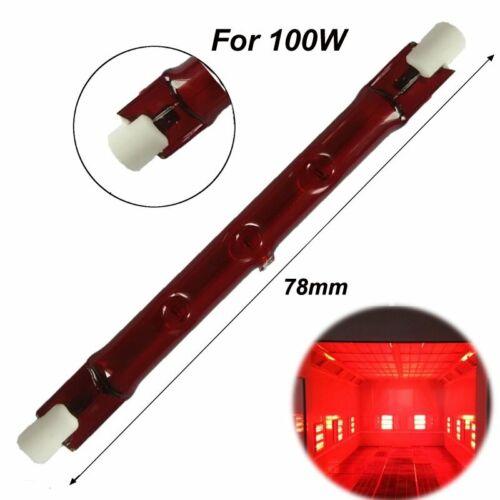 Heat Lamp 100-150W 78mm R7S Halogen Quartz Ruby Red Infra-Red Heater Bar Tube
