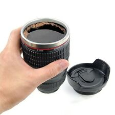 NEW Coffee Camera Lens Mug Thermos Cup Funny Cool Emulation Milk Beer Coffee Mug