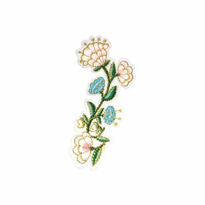 Iron On Blue Tulip Flower Embroidery Applique Patch Sew Iron Badge