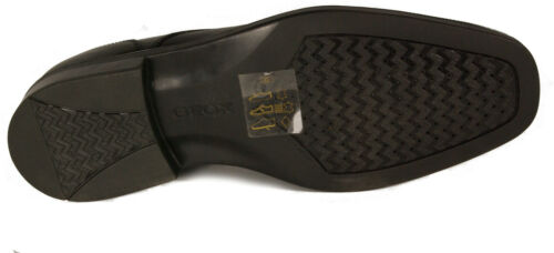 U Neu Geox Schuhe Business Leder Slipper Mod Londra Gummisohle Schwarz U7qq1vX