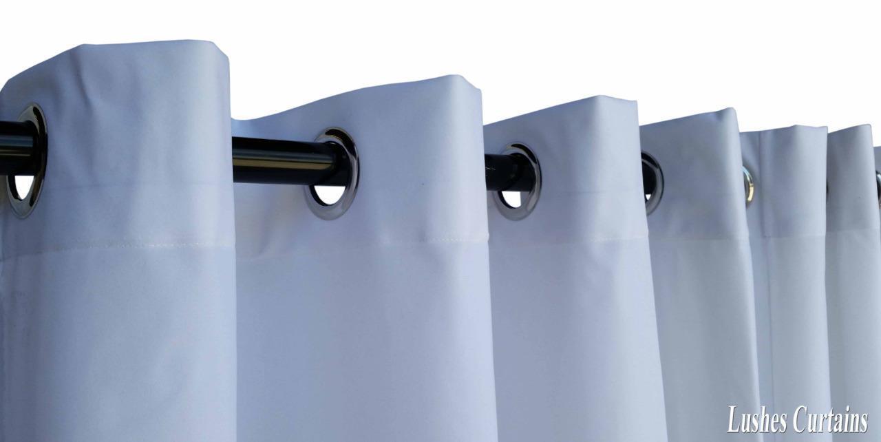 Weiß 183cm lang Samt Vorhang Fläche mit mit mit   Ring dichtkörper oberen Ösen | Perfekte Verarbeitung  5a9929