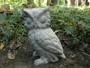 Image Is Loading Vintage Cement 6 034 Owl Garden Art Statue