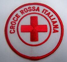 TOPPA PATCH RICAMATA CROCE ROSSA ITALIANA MINI VOLONTARIO CRI  SANITà C.R.I.