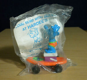 Smurfs-Hardees-Smurf-Orange-Skateboard-1996-Vintage-Figure-Toy-PVC-Figurine-Peyo