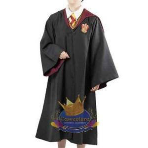 Harry-Potter-Gryffindor-Robe-AND-SCARF-Coat-Cloak-Costume-Hogwarts-Cosplay