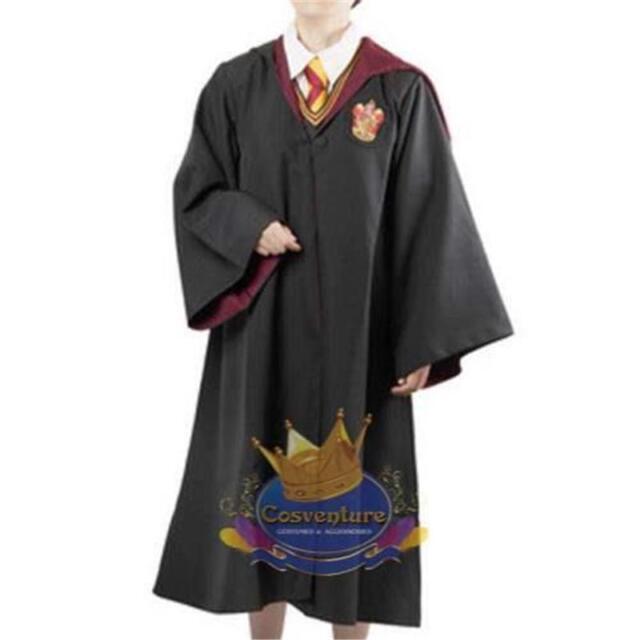 Harry Potter Gryffindor Robe AND SCARF Coat Cloak Costume Hogwarts Cosplay