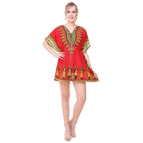Red  Butterfly Women Kaftan Maxi Dress Hippie Lounger Nighty Robes Lounge wear