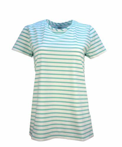 Vineyard Vines Women/'s Short Sleeve  Stripe Open Neck Tee T-shirt $49.50