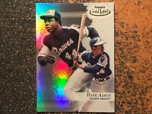 Hank-Aaron-Braves-2017-Topps-Gold-Label-RARE-CLASS-3-variation-91