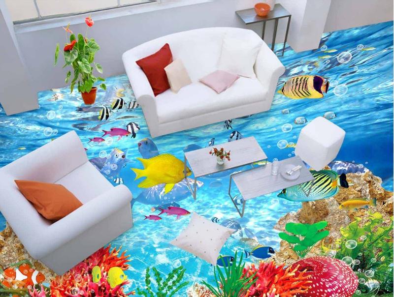 3D Fisch Bubble Fototapeten Wandbild Fototapete Tapete Familie DE Lemon