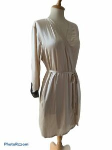 NK-iMODE-Morgan-Ivory-Silk-Short-Swing-Robe-with-Black-Lace-Trim-size-small