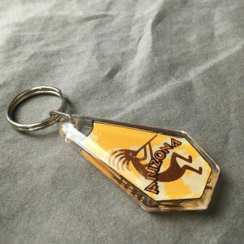 Arizona Keychain Keyring Kokopelli Yellow Novelty Plastic