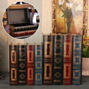 Retro-kasten-Aufbewahrungsbox-Sammelkasten-Schmuckkasten-Buchform-Buchattrappe