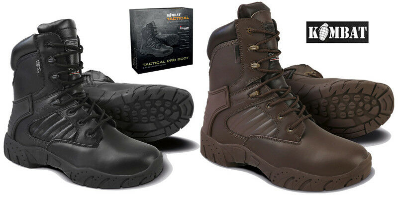 Mens Army Combat Military Black Or Brown Tactical Pro MOD Boots Hiking Size 4-13