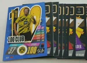 2020-21-Match-Attax-UEFA-Champions-League-Lot-of-20-cards-inc-100-Club-Haaland