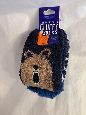 NWT Joules Boys Fluffy Slipper Socks Size US 10-13