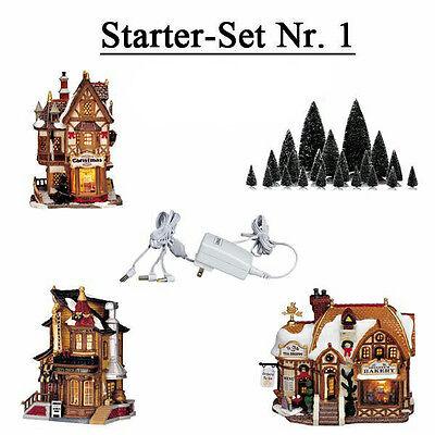 LEMAX STARTERSET 1 Weihnachtsdorf Winterdorf Modellbau