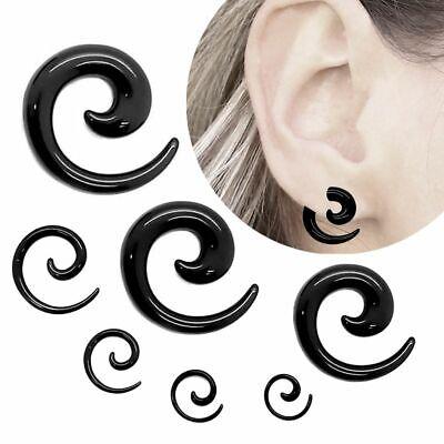 2er Set Dehnschnecke Acryl Spirale Dehnstäbe Piercing Dehner Plug Glitzer Lila