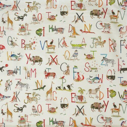 Prestigious TextilesAnimales Alfabeto Cortina De Algodón 100/% Tela ArtesanalDulce De Leche