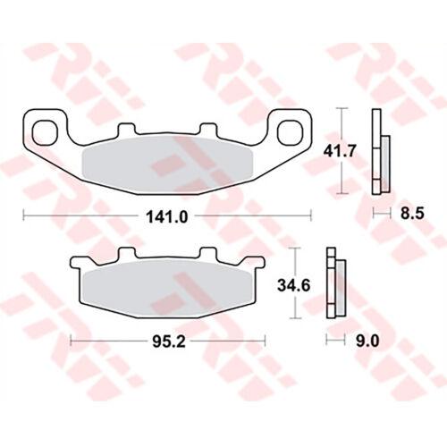 2x TRW Bremsbeläge vorne Kawasaki ZX10 Tomcat 88-90 ZXT00B