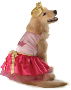 Details About Pink Princess Royal Queen Pet Dog Cat Puppy Halloween Costume