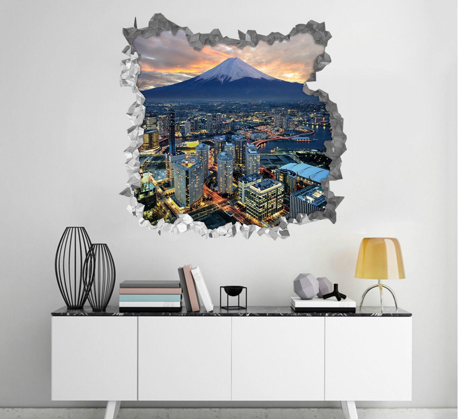3D Stadt Himmel 583 Mauer Murals Aufklebe Decal Durchbruch AJ WALLPAPER DE Lemon