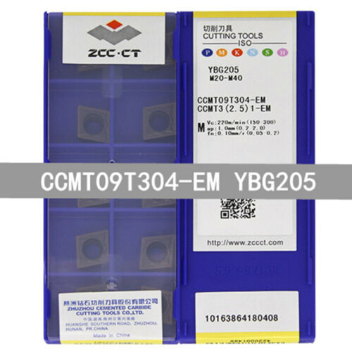 10 x ZCC.CT CCMT09T304-EM YBG205 CCMT32.51-EM YBG205 CNC Carbide inserts