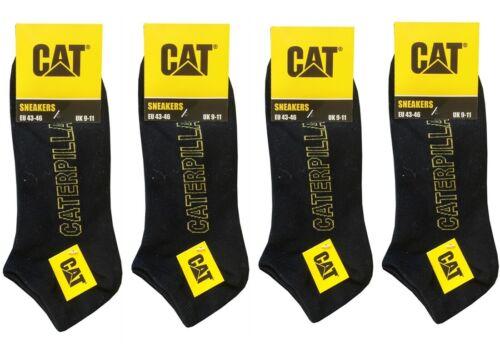 Schwarz Socken CAT Caterpillar 6|12 Paar Sneakersocken neues Design