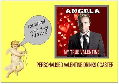 Gary Barlow Drinks Coaster Can Be Personalised