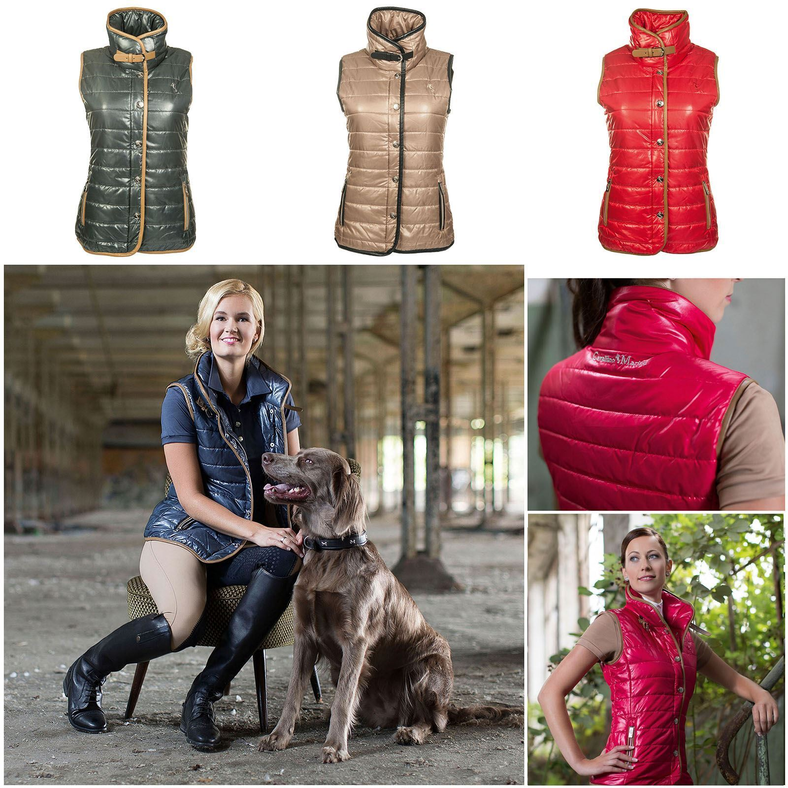 HKM Womens Riders Show Fashion Competition Padded Breathable Zip Up Gilet Top