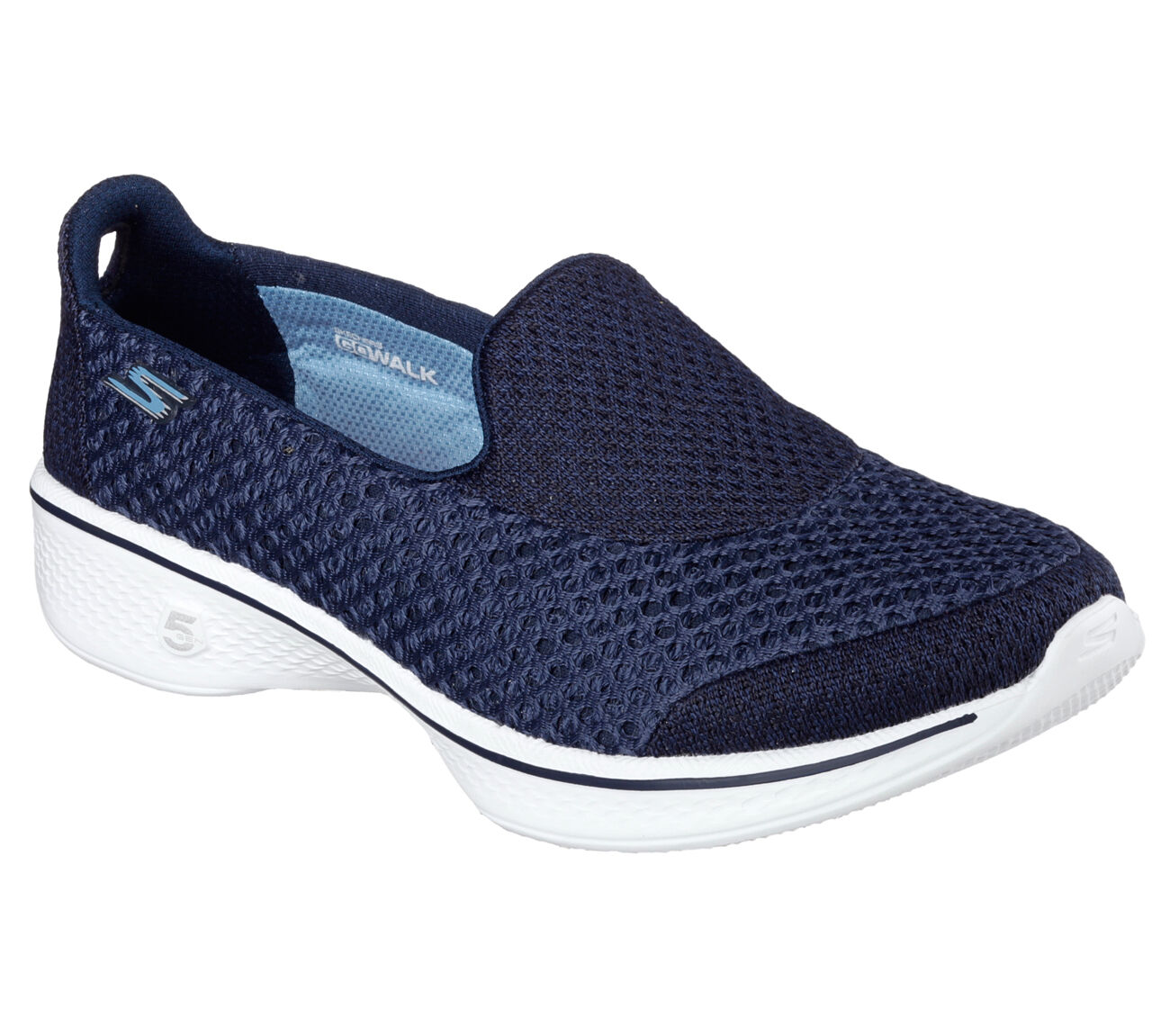Skechers Donna Go Walk 4 - Kindle, da da da Passeggio Comfort Scarpe Navy Bianco | Raccomandazione popolare  050749