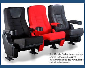 8 Real Movie Cinema Auditorium Rocker Chairs Home Theater Seating Rocking Seats Ebay