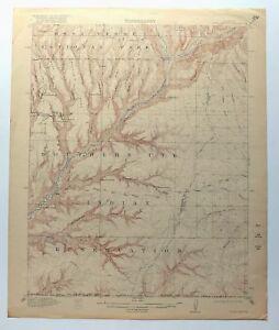Soda Canyon Colorado Usgs Topo Mapa 1915 Parque Nacional Mesa