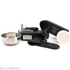 VINTAGE DOUBLE EGDE BLADE RAZOR BADGER BRUSH SHAVING BOWL&SOAP