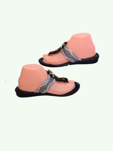8 con donne Scarpe di Diamante Sandali tacco argento paia spiaggia piatte basso da UvrxqU