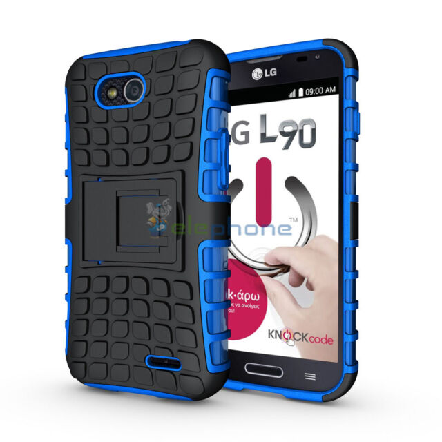 Armor Heavy Duty Rugged Hybrid Stand Case Cover For LG OPTIMUS L90 D415 D410